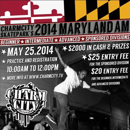 Charmcity Skatepark's Maryland Am