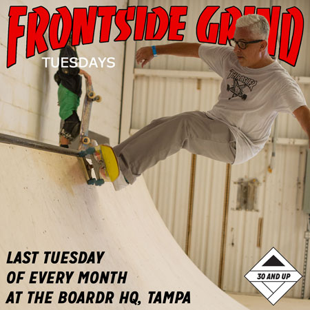 Frontside Grind Tuesdays: Free Mini Ramp 30 and Up Session