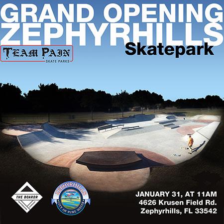 Zephyrhills Skatepark Grand Opening