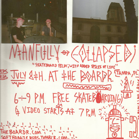 Manfully Collapsed Video Premiere at The Boardr HQ