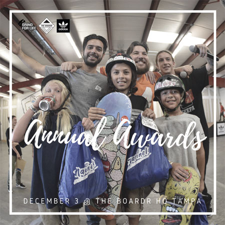 Grind for Life Series Annual Awards Presented by adidas at The Boardr HQ