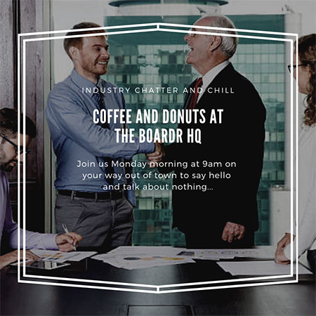Coffee and Donuts at The Boardr HQ