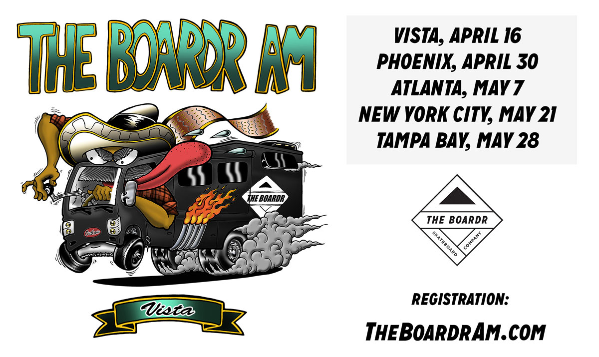 The Boardr Am Skateboarding Series Vista