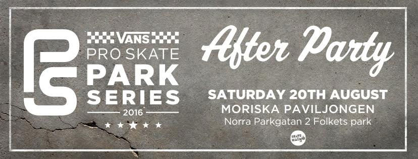 Vans Pro Skate Park Series Malmo After Party