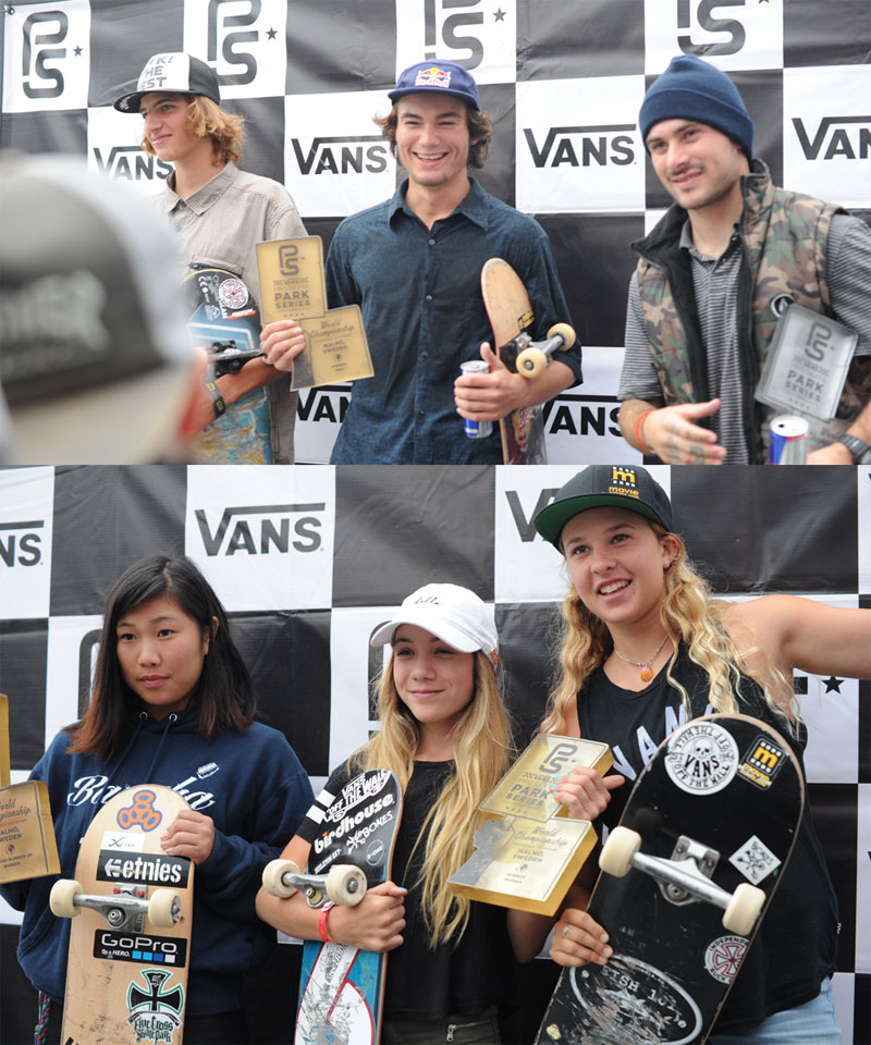 Vans Pro Skate Park Series World Champions