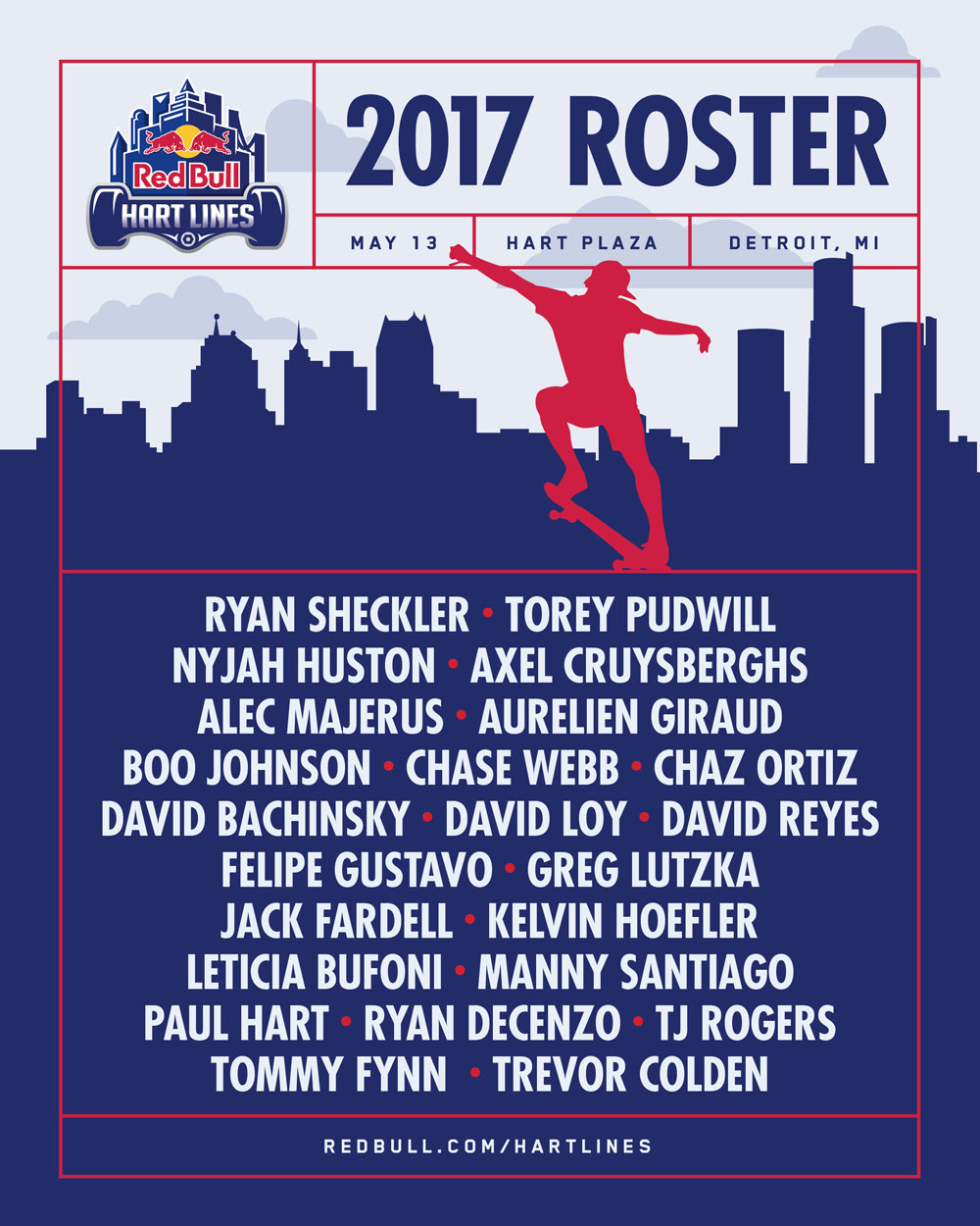 Hart Lines 2017 Roster