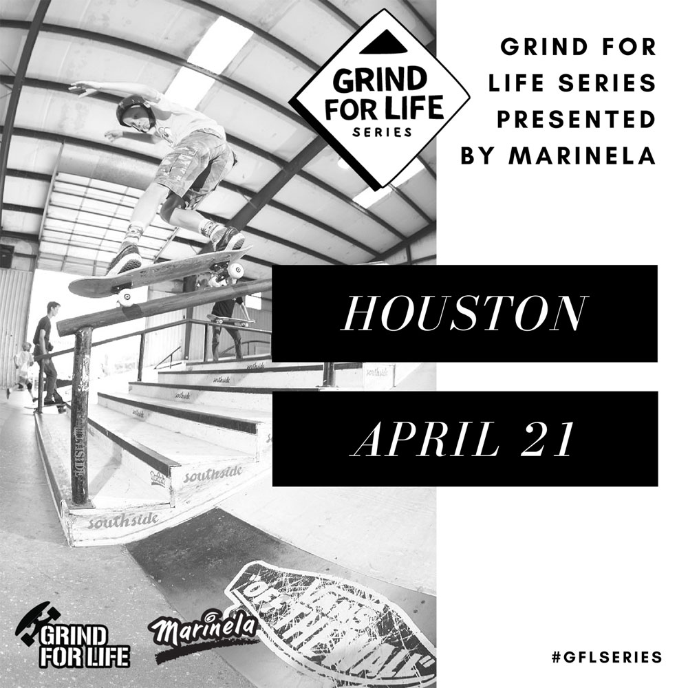 Grind for Life Skateboarding Contest in Houston