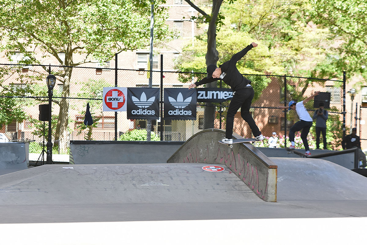 The Boardr Amateur Skateboarding at NYC - Gap Back Lip