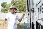 Rookie RV moves at every mile. Sam tried to fill the water tank with the water on low. Casey wasn't stoked.