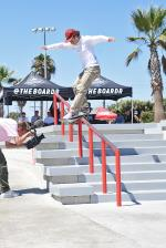 Christian Dufrene with a proper front feeble. He was on the way to winning another one.