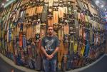 Casey in front of a few hundred vintage skateboards. The museum here is insane.