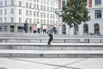 All of Copenhagen is a skatepark and James took advantage of it.