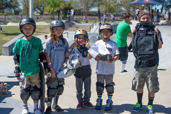 Parents and Kids Skateboarding Together