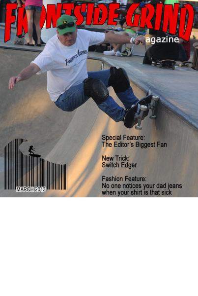 Binky Conklin on the cover of Frontside Grind Magazine