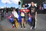Street Girls winners. Emily Headson, Violet Boulter, and Alison Morgan who skated her first contest ever today.