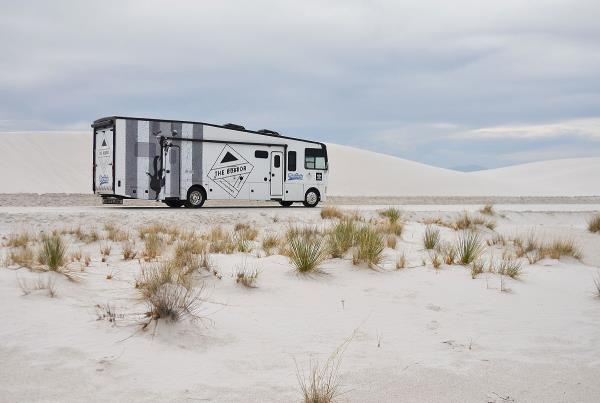 The #BoardrBus aka Bonnie at White Sands