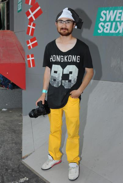 Yellow Pants Guy at Copenhagen Pro