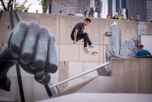 Red Bull Hart lines - Somers Photos - Nyjah Kickflip