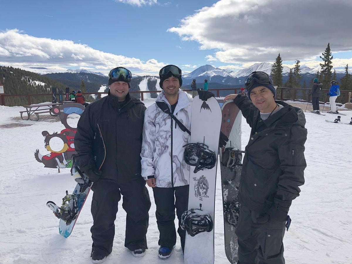 Brian King, Jorge, and Rob at Zumiez 100k