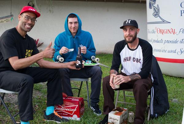 Kamal, Jake Donnelly, Peter Ramondetta at Tampa Bro