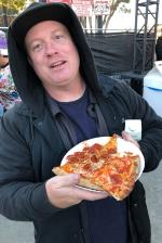 Judging the pizza at Air and Style.