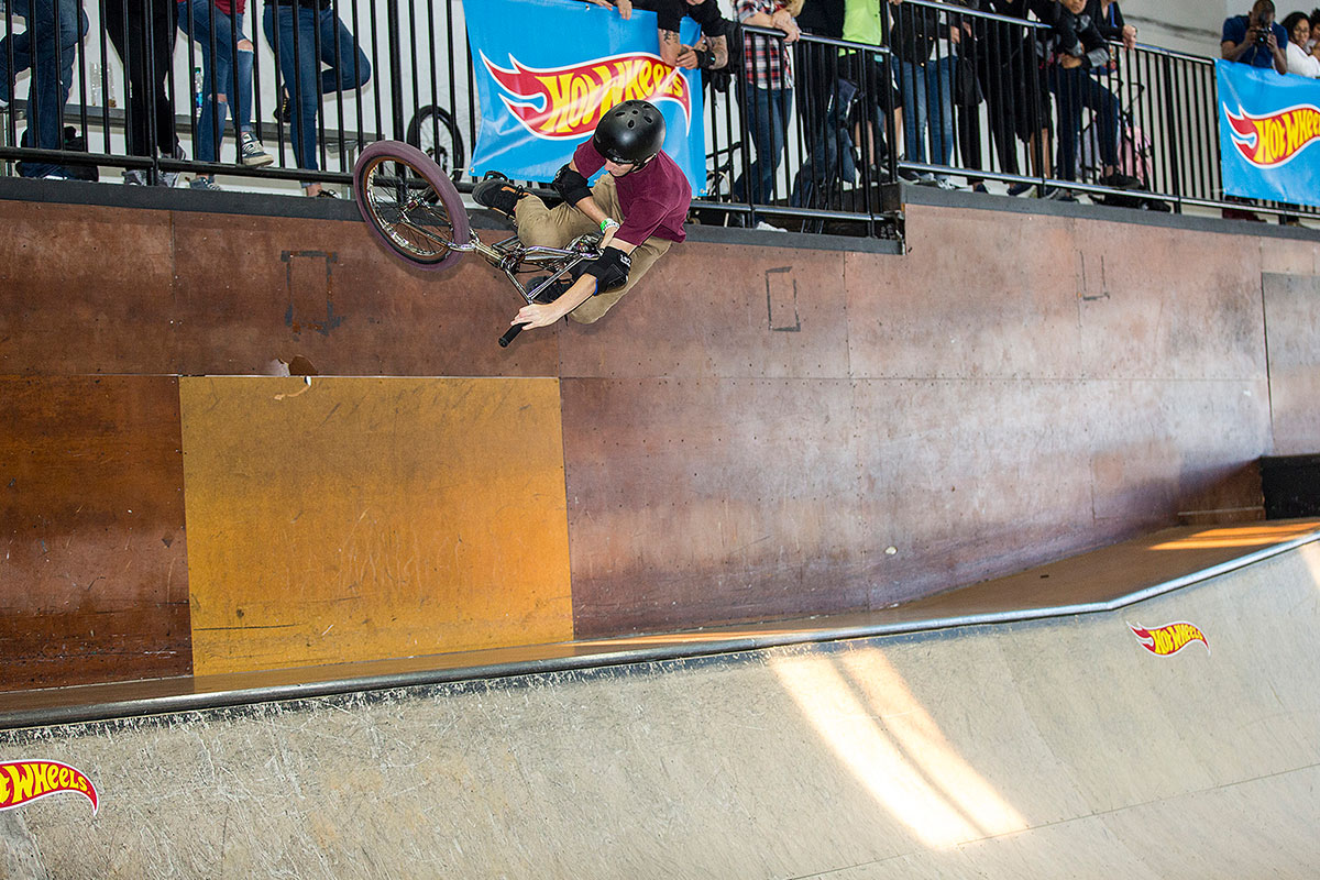 Braeden Davis in the Mini Ramp