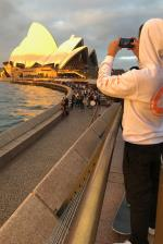 Dylan capturing that golden hour on the Opera House. We pushed around all the tourist spots.