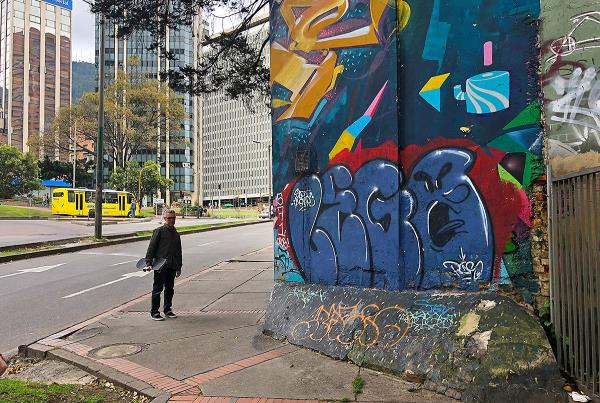 Day Off in Bogota - Bank to Wall.