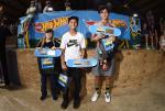 Skateboarding Street Advanced winners.