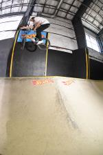 Sean Curliss with the barspin.