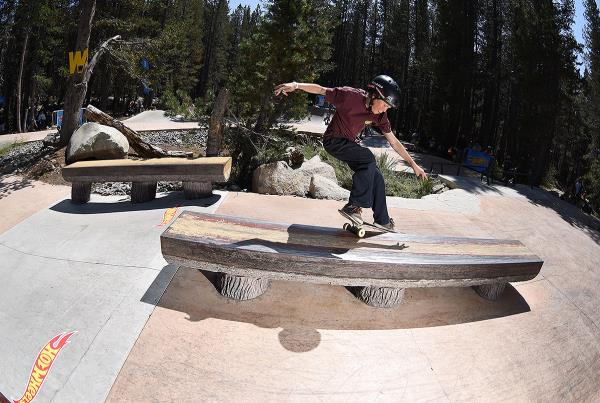 HWJS at Tahoe - Smith Grind.