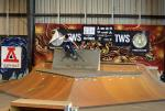 Jesse Viera qualified 1st with tricks like this ollie to wallride.