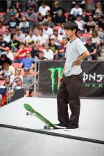 Yuto at the Sydney X Games, photo by Bryce Kanights