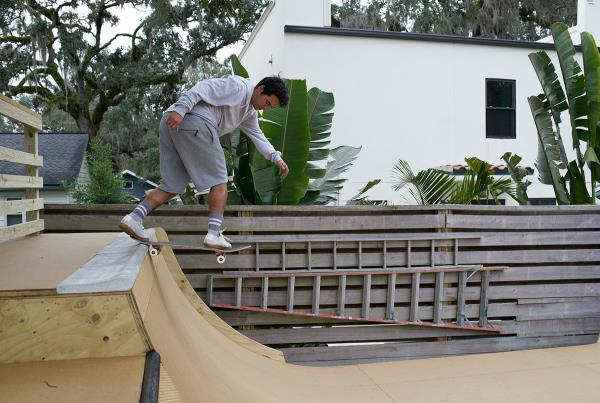Pool Coping at Porpe's Ramp