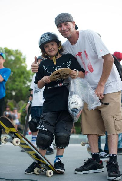 Dave and Emily Headson Father Daughter Skateboarding Team
