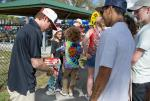 Sheckler in the autograph tornado.