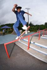 Keenan getting into a noseblunt.