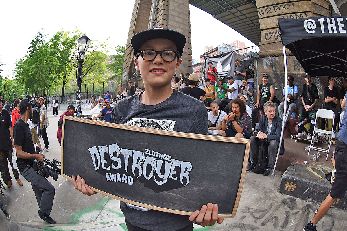 The Boardr Am at NYC - Zumiez Destroyer Award.