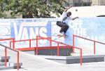 Dominick Walker with the kickflip back board.