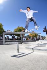 Allan Hernandez with the crook.