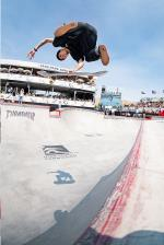 Luiz Francisco with the V flip Indy.