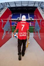 Felipe Gustavo at the Red Bull Arena in NYC.