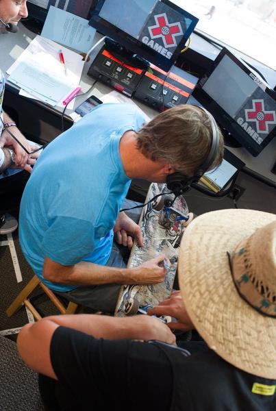 Filmer Jared and Tony Hawk at XGames