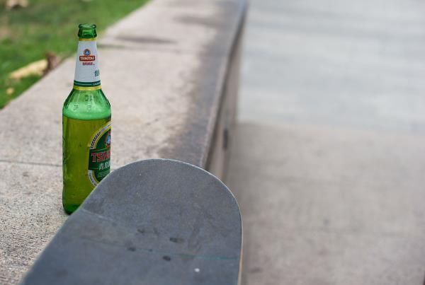 Booze at the Shanghai Skate Spot