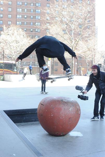 Rodrigo TX Nollie Backside Flip NYC