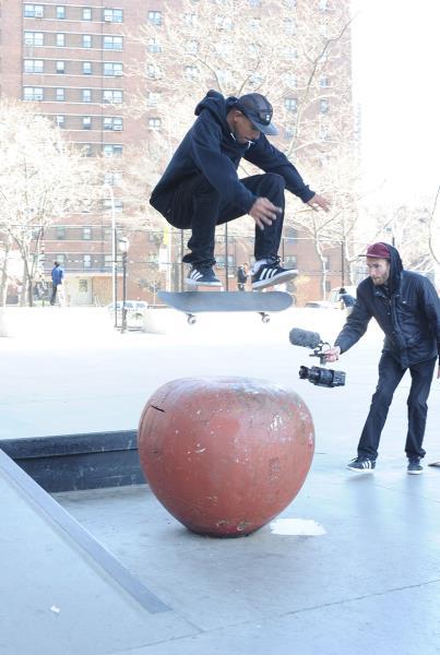 Rodrigo TX Nollie Frontside Flip NYC