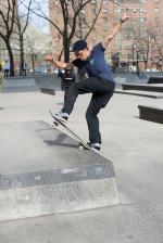 Andrew Valencia front bluntslides for Belief Skate Shop.
