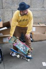 Markin' out on Mark, part two. Someone brought an old Gonz Vision board for him to sign.