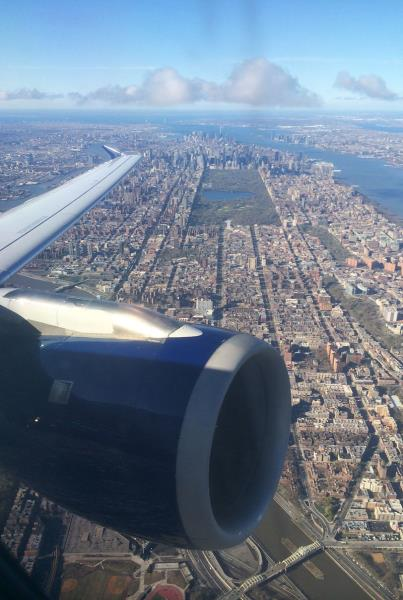 Flying in NYC Laguardia Seat