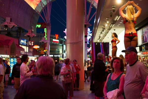 Women Dancing on Bars in Las Vegas